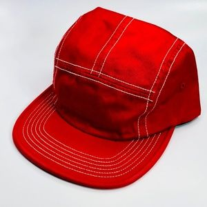Supreme Fitted Rear Patch Red Camp Cap Hat